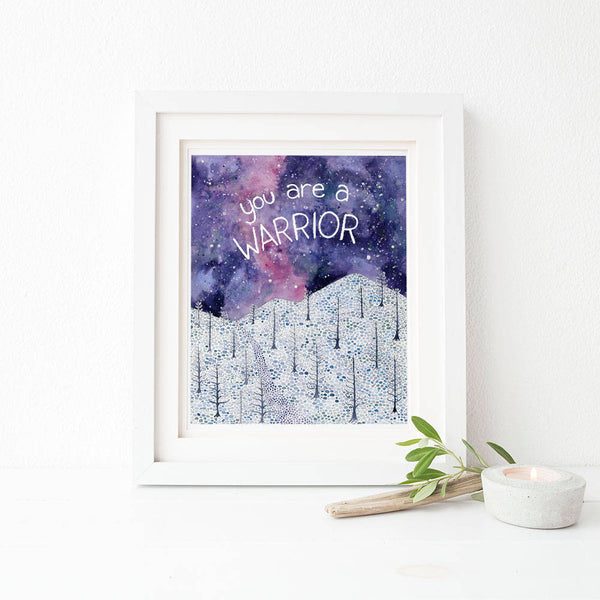 Warrior Watercolor Art Print
