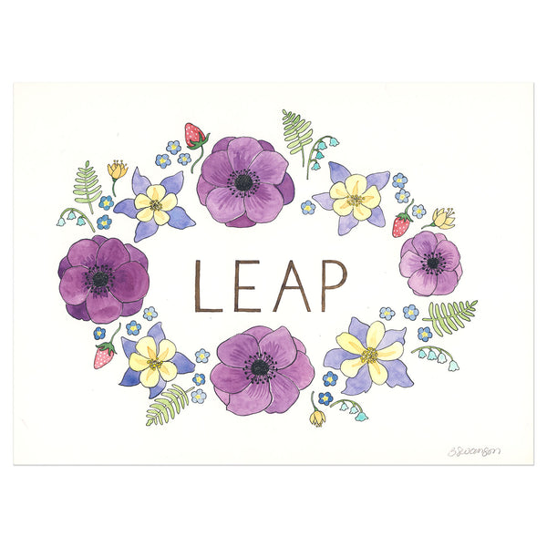 Leap Original Watercolor Painting