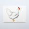 Leghorn Chicken Original Watercolor Painting