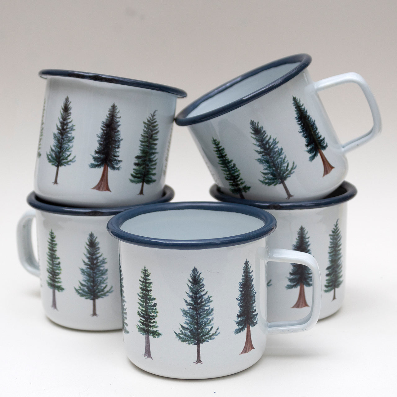 SECONDS SALE: Imperfect Evergreen Trees Enamel Mug