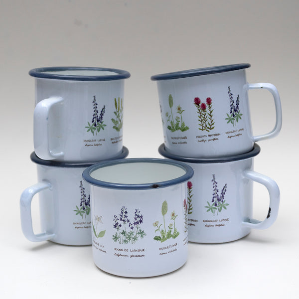 SECONDS SALE: Imperfect Wildflowers Enamel Mug