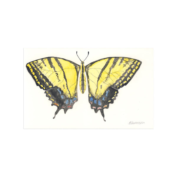 Swallowtail Butterfly Original Watercolor Painting