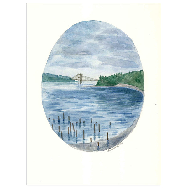 Tacoma Titlow Beach Park Original Watercolor Painting