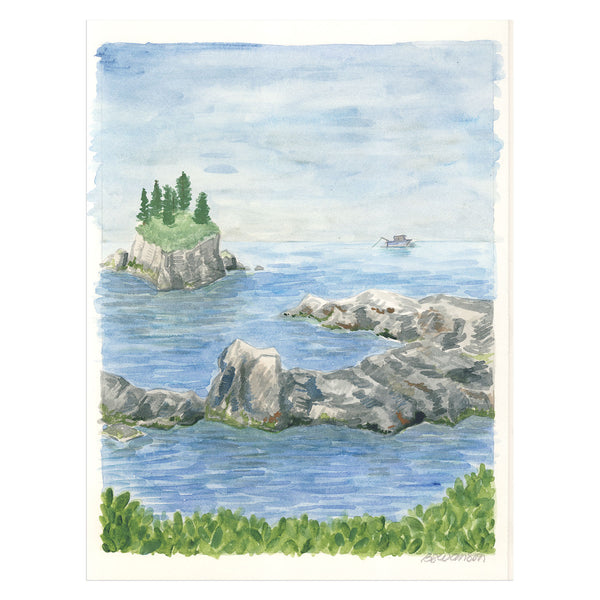 Ucluelet Fishing Original Watercolor Painting