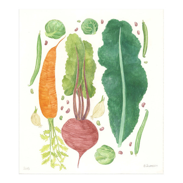 Vegetables Original Watercolor Painting