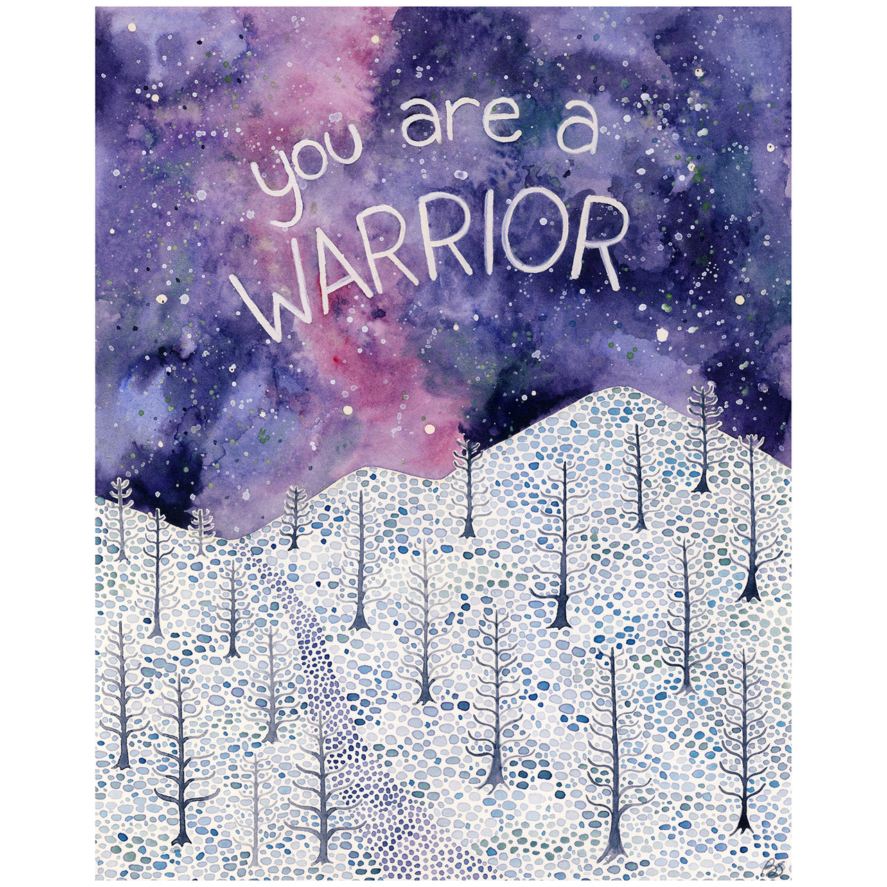 You Are A Warrior original watercolor painting by Yardia
