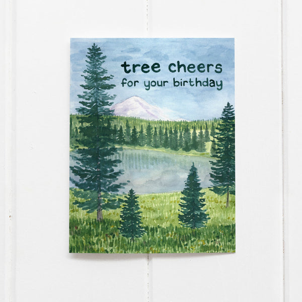 Tree Cheers For Your Birthday Card