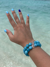Load image into Gallery viewer, Aquamarine & Quartz Healing Crystal Gemstone Bracelet