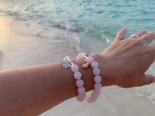 Load image into Gallery viewer, Rose Quartz & Clear Quartz Healing Crystals Pick Your Charm Bracelets