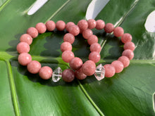 Load image into Gallery viewer, Pink Quartz and Herkimer Diamond Healing Crystal Bracelet