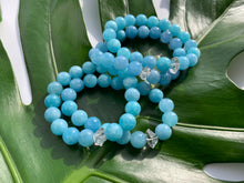 Load image into Gallery viewer, Aquamarine & Herkimer Diamond Healing Crystal Bracelet
