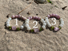 Load image into Gallery viewer, Kunzite Moonstone Peridot Healing Crystal Bracelet