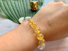 Load image into Gallery viewer, Citrine and Quartz Gemstone Healing Crystal Bracelet