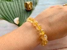 Load image into Gallery viewer, Citrine Gemstone Healing Crystal Bracelet