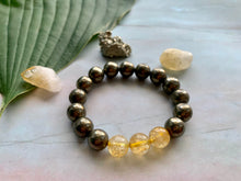Load image into Gallery viewer, Pyrite and Citrine Gemstone Healing Crystal Bracelet