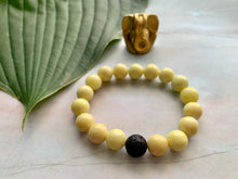 Load image into Gallery viewer, Yellow Jasper Healing Crystal & Lava Bead Bracelet