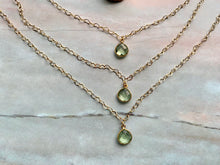 Load image into Gallery viewer, Green Amethyst Healing Crystal Gold Filled Heart Choker Necklace