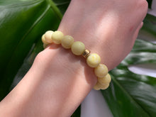 Load image into Gallery viewer, Yellow Jasper Healing Crystal & Gold Spacer Charm Bracelet