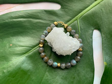 Load image into Gallery viewer, Labradorite Healing Crystal Gold Spacer Bracelet