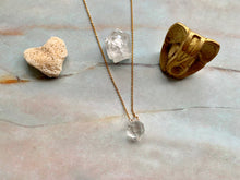 Load image into Gallery viewer, Double Terminated Herkimer Diamond Healing Crystal Gold Necklace 0.3
