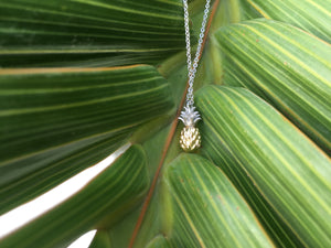 Gold Filled Pineapple Charm Necklace