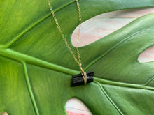 Load image into Gallery viewer, Raw Black Tourmaline Gemstone Healing Crystal Gold Filled Necklace