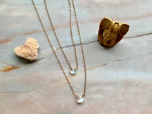 Load image into Gallery viewer, Grade AA Dainty Moonstone Healing Pear Shape Gemstone Necklace