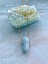 Load image into Gallery viewer, Double Terminated Aquamarine Gemstone Necklace