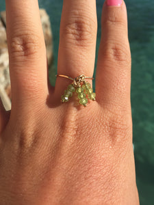 Green Peridot Dainty Size 5.5 Ring