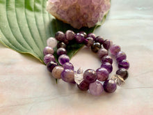 Load image into Gallery viewer, Faceted Amethyst and Herkimer Diamond Healing Crystal Bracelet