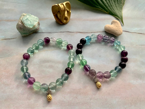 Flourite Healing Crystals Pick Your Charm Bracelets