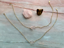 Load image into Gallery viewer, Rose Quartz Gemstone Healing Crystal Gold Filled Heart Choker Necklace