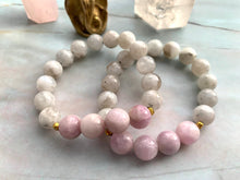 Load image into Gallery viewer, Moonstone and Kunzite Healing Crystal Bracelet