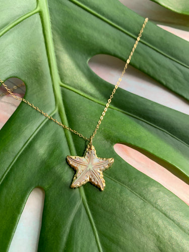 Mother of Pearl Starfish Pendant Necklace