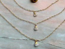 Load image into Gallery viewer, Moonstone Healing Crystal Gold Filled Heart Choker Necklace
