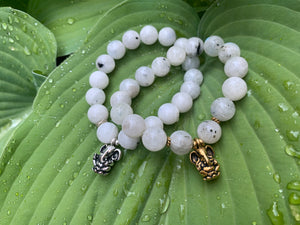 Remover of Obstacles Ganesh Moonstone Gemstone Bracelet