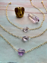 Load image into Gallery viewer, Amethyst Gemstone Healing Crystal Gold Filled Heart Choker Necklace
