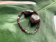 Load image into Gallery viewer, Garnet Healing Crystal Gemstone Beads Silver Bracelet