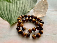 Load image into Gallery viewer, Tiger Eye & Herkimer Diamond Healing Crystals Bracelet