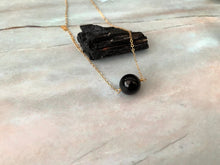 Load image into Gallery viewer, Black Tourmaline Gemstone Healing Crystal Gold Filled Necklace