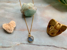 Load image into Gallery viewer, Dainty Labradorite Healing Crystal Gemstone Gold Filled Necklace