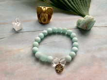 Load image into Gallery viewer, Amazonite & Crystal Quartz Healing Crystal Pick Your Charm Bracelet