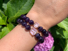 Load image into Gallery viewer, 8mm Amethyst and Raw Lavender Kunzite Healing Crystal Bracelet