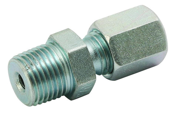 Type LL Straight Compression Fitting, Zinc Plated Steel