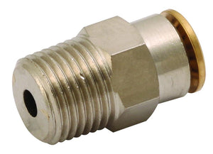 Straight Push In Fitting, Nickel Plated Brass