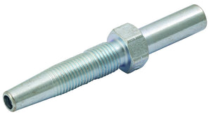 Straight Insert for 11.3 mm OD Hose, Mild Steel, Zinc Plated