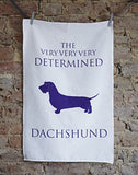 Determined Dachshund Tea Towel - www.homeandhound.com