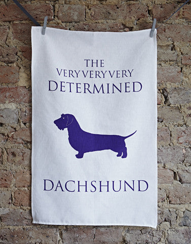 Determined Dachshund Tea Towel - Bottle Green Homes  - 1