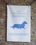 Dashing Dachshund Tea Towel - Bottle Green Homes  - 1