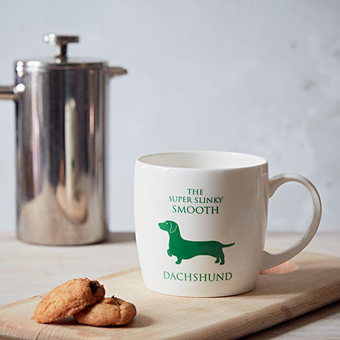 Smooth Dachshund Fine Bone China Mug - home and hound